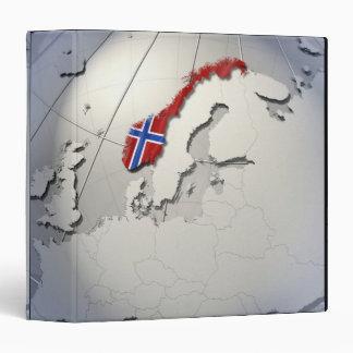 Flag of Norway 3 Ring Binder