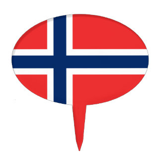 Flag of Norway Cake Topper