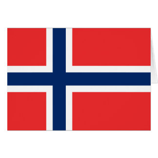 Flag of Norway Greeting Card