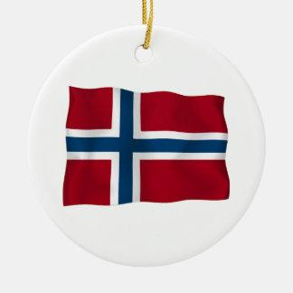 Flag of Norway Ceramic Ornament