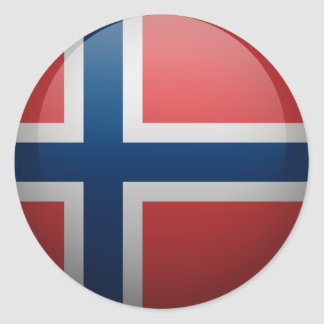 Flag of Norway Classic Round Sticker