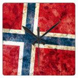 Flag of Norway Clock