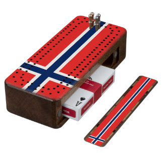Flag of Norway Cribbage Board