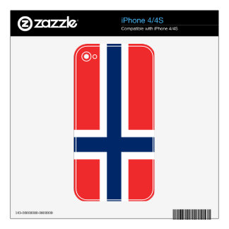 Flag of Norway Decals For The iPhone 4S