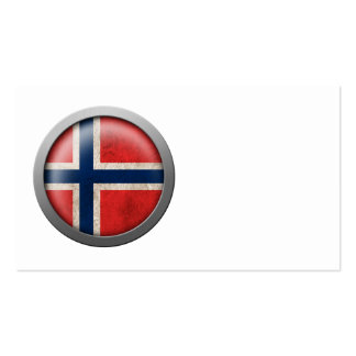 Flag of Norway Disc Business Card