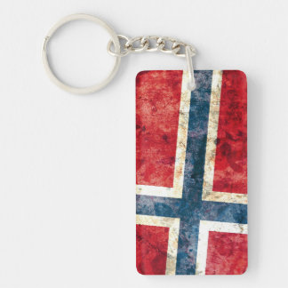 Flag of Norway Double-Sided Rectangular Acrylic Keychain