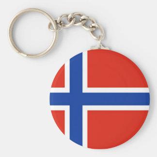 Flag of Norway Basic Round Button Keychain