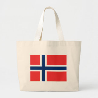 Flag_of_Norway Large Tote Bag