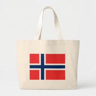 Flag of Norway Large Tote Bag