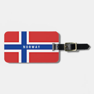 Flag of Norway Tag For Bags