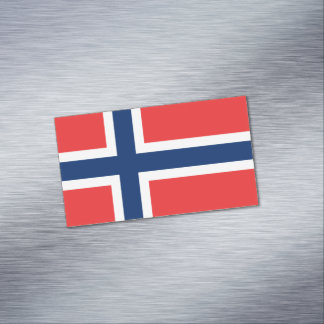 Flag of Norway Magnetic Business Cards
