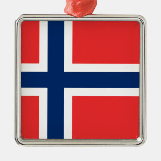 Flag of Norway Metal Ornament