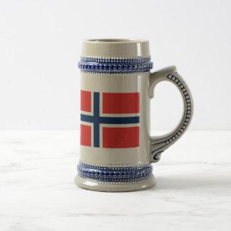 Flag of Norway 18 Oz Beer Stein