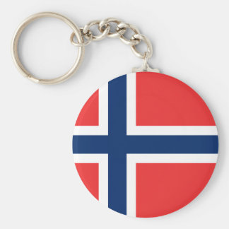 Flag of Norway - Norges flagg - Det norske flagget Basic Round Button Keychain