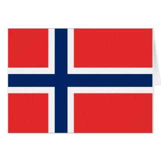 Flag of Norway - Norges flagg - Det norske flagget Card