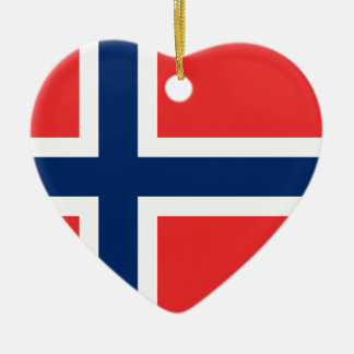 Flag of Norway - Norges flagg - Det norske flagget Ceramic Ornament