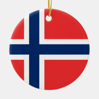 Flag of Norway - Norges flagg - Det norske flagget Ceramic Ornament