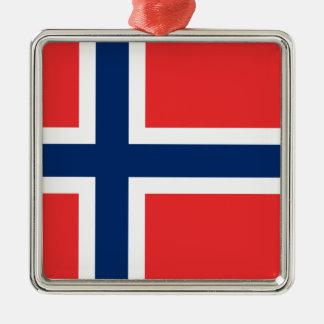 Flag of Norway - Norges flagg - Det norske flagget Metal Ornament