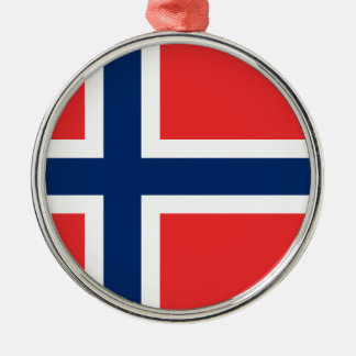 Flag of Norway - Norges flagg - Det norske flagget Metal Ornament
