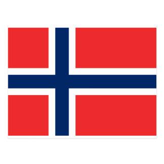 Flag of Norway - Norges flagg - Det norske flagget Postcard