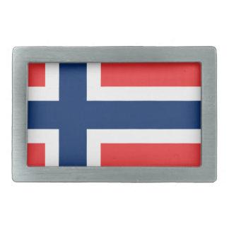 Flag of Norway - Norges flagg - Det norske flagget Rectangular Belt Buckle