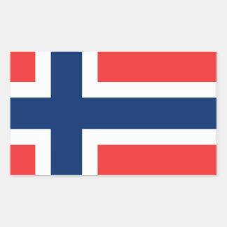 Flag of Norway - Norges flagg - Det norske flagget Rectangular Sticker