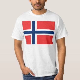 Flag of Norway - Norges flagg - Det norske flagget T Shirt