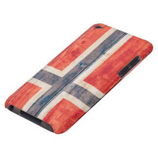 Flag of Norway on Wood iPod Case-Mate Case