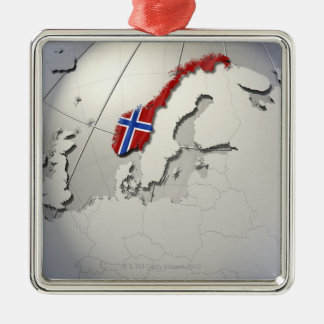 Flag of Norway Christmas Ornaments