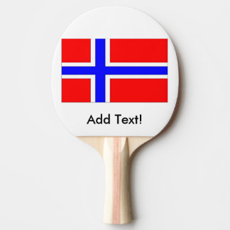 Flag of Norway Ping-Pong Paddle