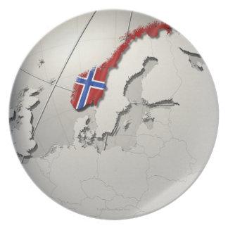 Flag of Norway Dinner Plate