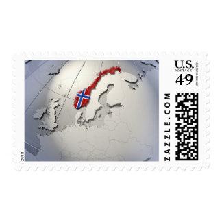 Flag of Norway Postage Stamp