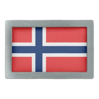 Flag of Norway Rectangular Belt Buckle