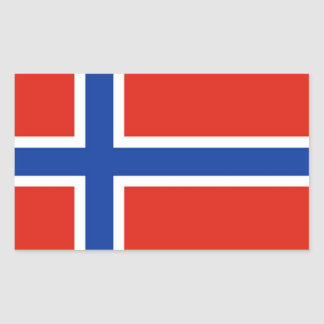 Flag of Norway Rectangular Sticker