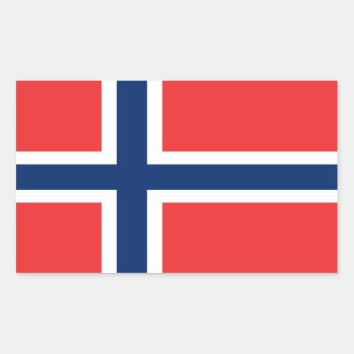 Flag of Norway Rectangular Stickers