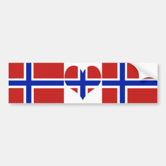 Flag of Norway Scandinavian Bumper Sticker