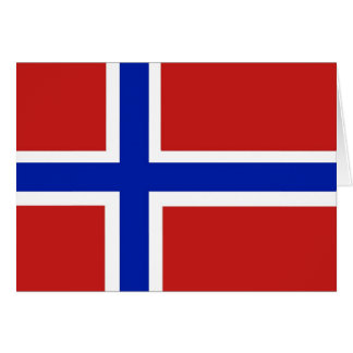 Flag of Norway Scandinavian Card