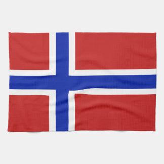 Flag of Norway Scandinavian Kitchen Towel