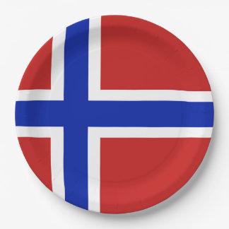 Flag of Norway Scandinavian Paper Plate