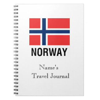 FLAG of NORWAY Spiral Notebook