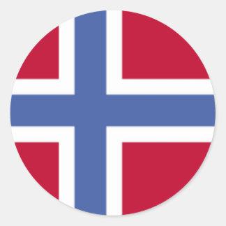 Flag of Norway Round Sticker