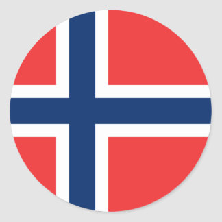 Flag of Norway Sticker Circle