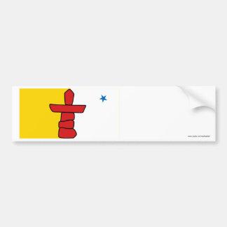 Flag of Nunavut, Canada Car Bumper Sticker