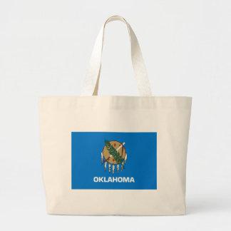Flag Of Oklahoma Large Tote Bag