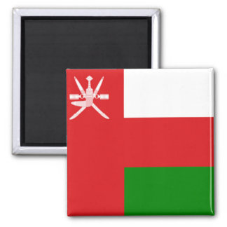 Flag of Oman 2 Inch Square Magnet