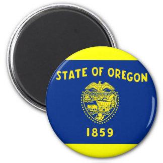 Flag of Oregon 2 Inch Round Magnet