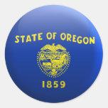 Flag of Oregon Classic Round Sticker