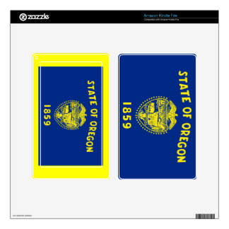 Flag of Oregon Decal For Kindle Fire