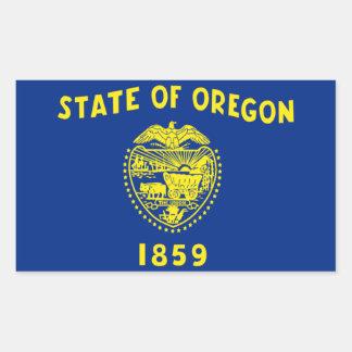 Flag of Oregon Rectangular Sticker
