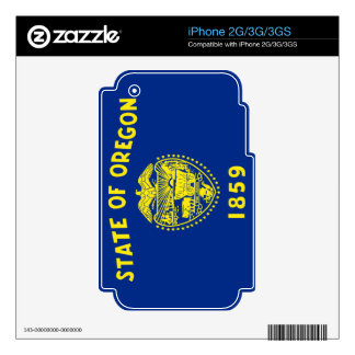 Flag of Oregon Skins For iPhone 3GS